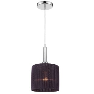 Orren Ellis Kellar 1-Light Drum Pendant