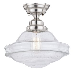 Hirsch 1-Light Semi Flush Moun..
