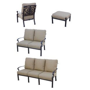 Palazzo Sasso 4 Piece Sofa Set with Cushions