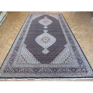 Best Choices One-of-a-Kind Beaton Hand-Knotted Wool Black Area Rug By Isabelline