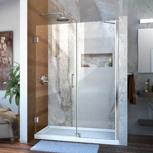 Unidoor 52 x 72 Hinged Frameless Shower Door with Clearmax? Technology by DreamLine