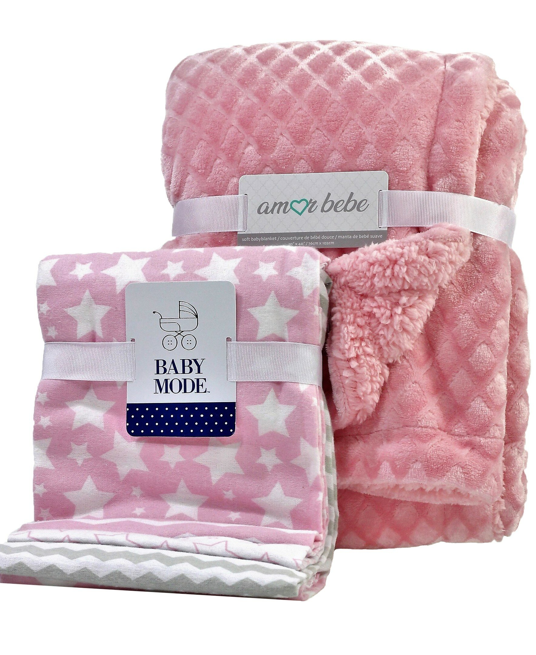 5 Piece Flannel Receiving Blanket Set 30 x 30 Soft Lightweight Warm /& Comfortable