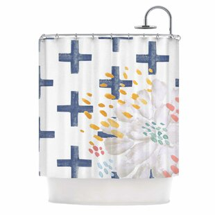 'Bright And Pretty' Single Shower Curtain by East Urban Home Savings