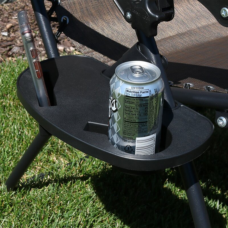 Harmond Universal Oval Zero Gravity Chair Cup Holder with Mobile Device  Slot and Snack Tray