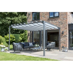 Averill 3.6 X 3m Metal Pergola By Sol 72 Outdoor