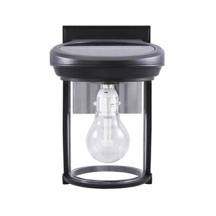 1-Light Solar Coach with GS Solar Light Outdoor Sconce by Gama Sonic