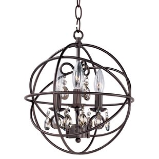 Willa Arlo Interiors Alden 3-Light Globe Chandelier