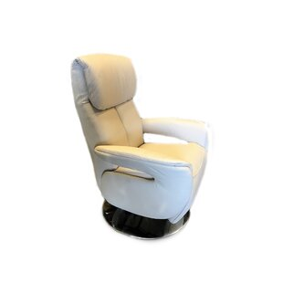 Manteo Leather Power Swivel Recliner