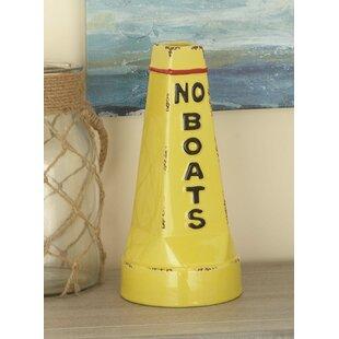 Findley Coastal Stoneware Cone-Shaped Buoy Table Vase