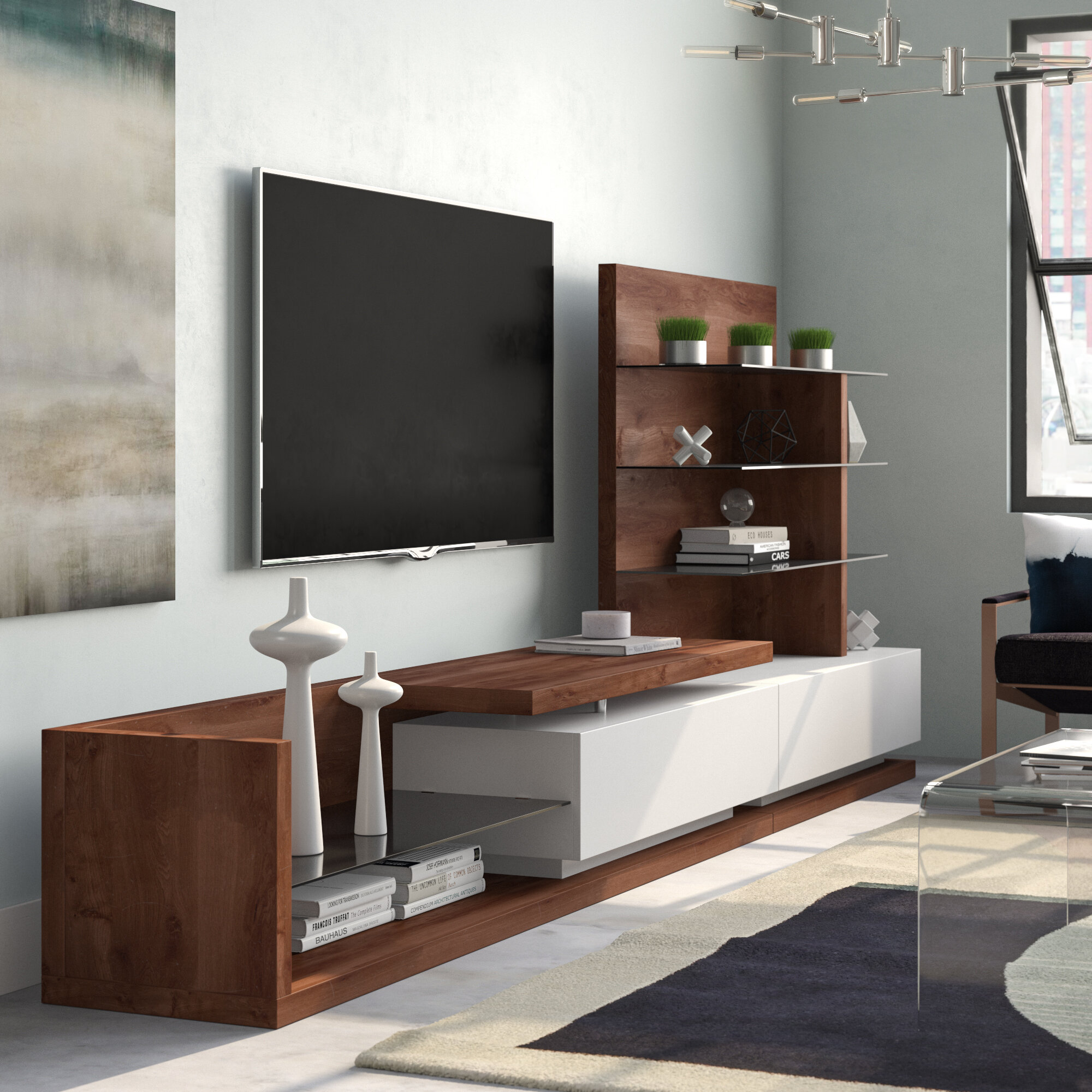 Orren Ellis Abdulmohymen Entertainment Center For Tvs Up To 88 Reviews Wayfair