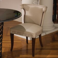 Casino Leather Side Chair by Global Views