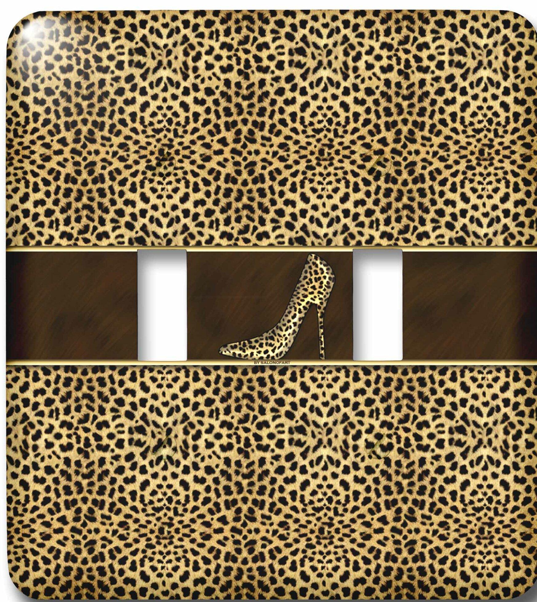 3drose Cheetah Print Wild Woman Stiletto Pump And Bling 2 Gang Toggle Light Switch Wall Plate Wayfair