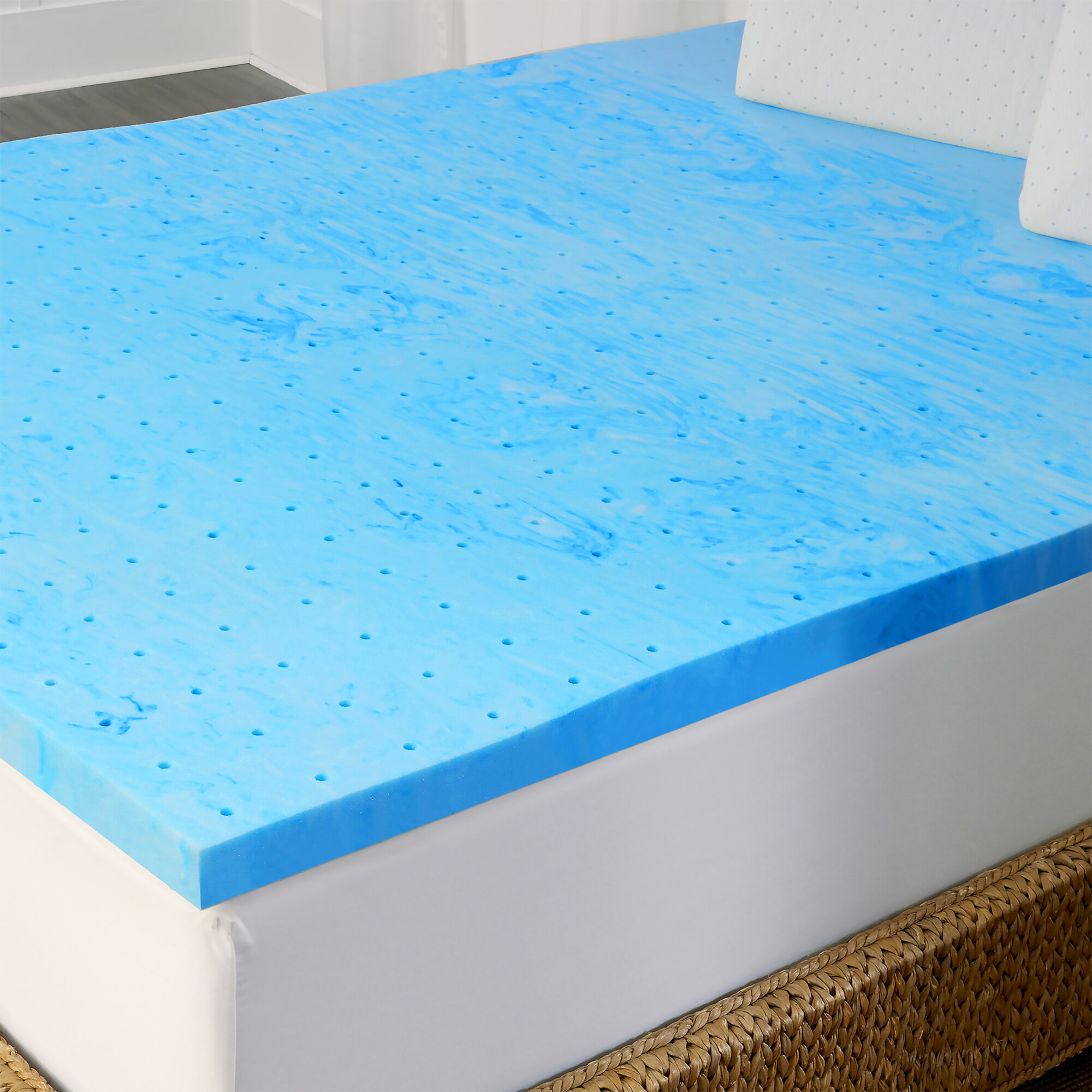 foam memory sw topper gel queen pcok mattress co