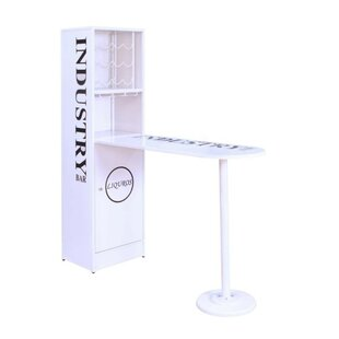 Gianna Modern Metal Counter Height Pub Table by 17 Stories