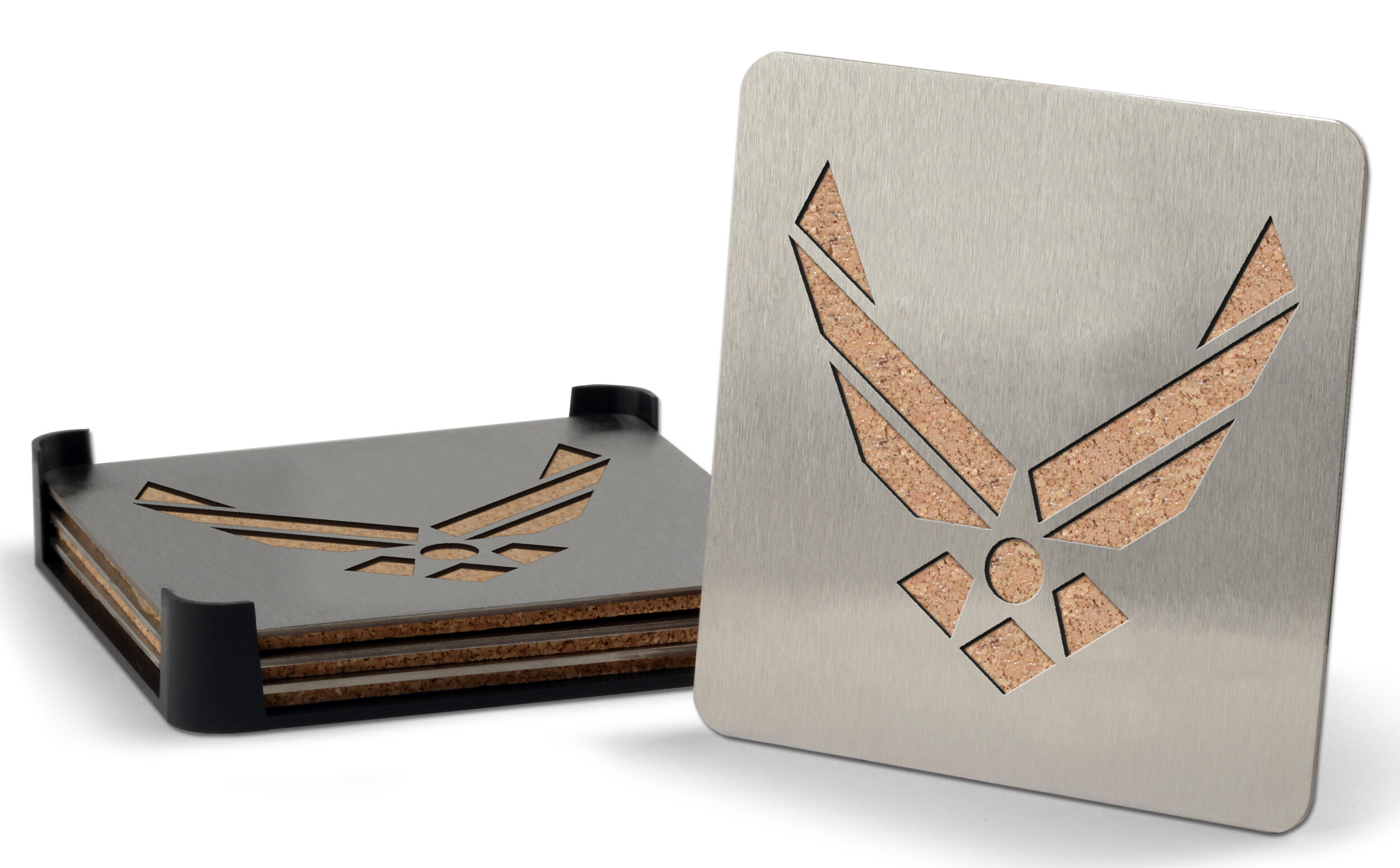 Youthefan Us Military Branch 5 Piece Coaster Set With Holder Wayfair