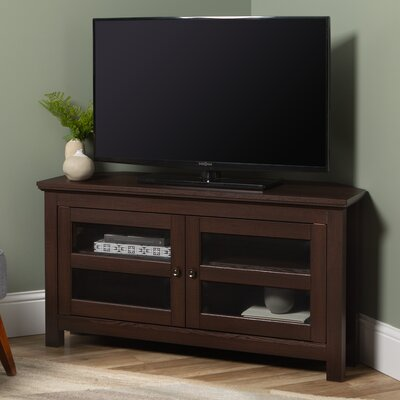 "Aurelio Corner TV Stand for TVs up to 48"" Color: Espresso by Andover Mills"