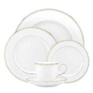 Federal Gold Bone China 5 Piece Place Setting Service for 1  sc 1 st  Wayfair & Gold Trim Dinnerware | Wayfair