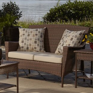 Panama Jack Outdoor Key Biscayne Loveseat with Cushions