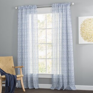 Aventura Semi Sheer Rod Pocket Curtain Panels Set Of 2