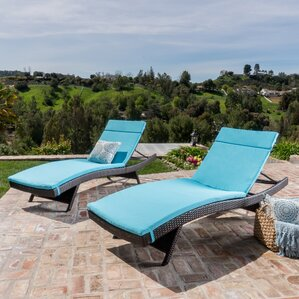 Larry Chaise Lounge With Cushion Set Of 2