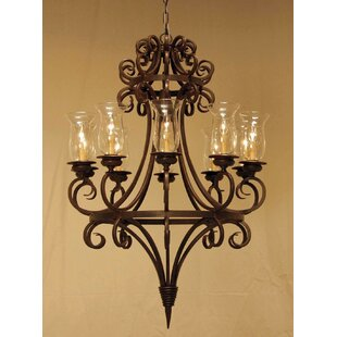 Symen 10-Light Shaded Chandelier by 2nd Ave Design