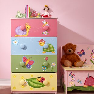 Coupon Magic Garden 4 Drawer Cabinet by Fantasy Fields Reviews (2019) & Buyer's Guide