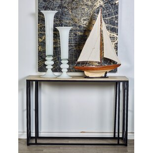 Cole & Grey Metal Wood Console Table