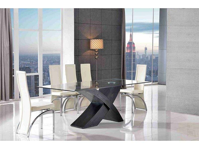 Ebern Designs Ediz Glass Dining Set