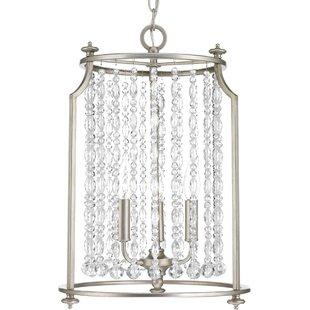 House of Hampton Joines 3-Light Crystal Chandelier