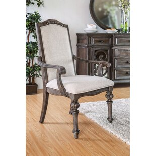 August Grove Abbottstown Transitional Arm Chair (Set of 2)