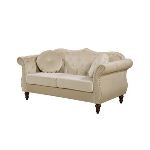 Order Bridges Classic Nailhead Chesterfield Loveseat by Rosdorf Park Reviews (2019) & Buyer's Guide