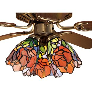 Ceiling fan fitter shades youll love wayfair iris 5 glass bowl ceiling fan fitter shade aloadofball Gallery