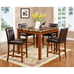 Harlingen 5 Piece Pub Table Set Fleur De Lis Living