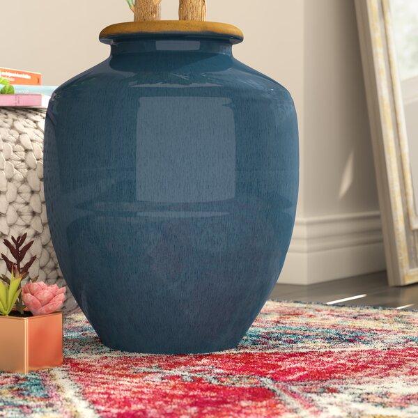 World Menagerie Blue Ceramic Floor Vase Wayfair