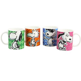Festive Sketch 4 Piece Coffee Mug Set