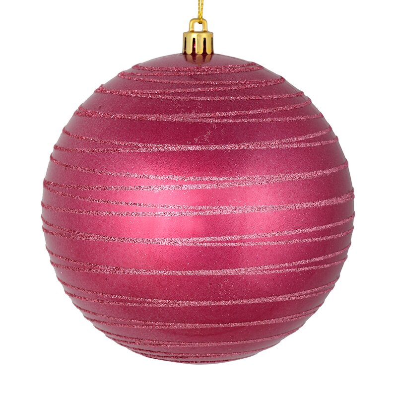 The Holiday Aisle Candy Glitter Ball Ornament Reviews Wayfair