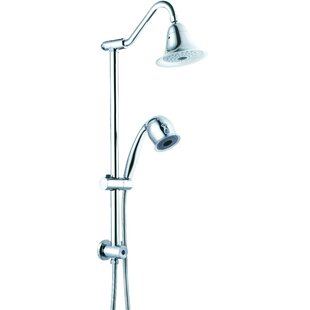 CSI Bathware Sliding Rain Dual Shower Head