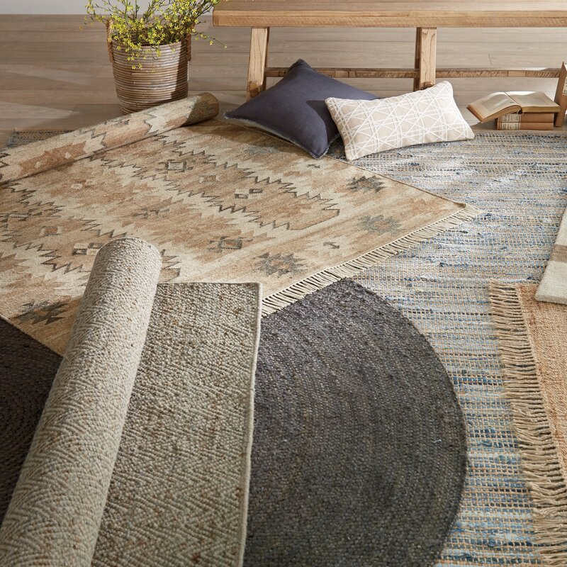 Amit Hand Woven Brown Area Rug Beachcrest Home