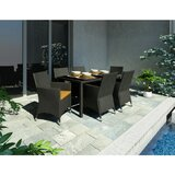 Bergenia 7 Piece Dining Set with Cushion