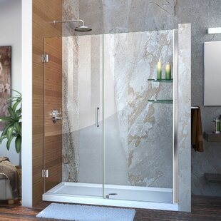 Unidoor 55 x 72 Hinged Frameless Shower Door with Clearmax? Technology by DreamLine