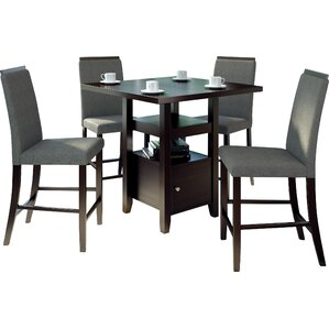 Burgess 5 Pieces Counter Height Dining Set by Red Barrel Studio