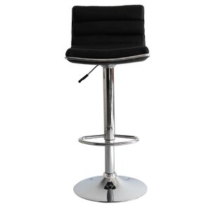 Linder Adjustable Height Swivel Bar Stool..