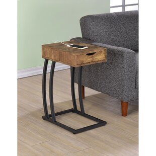 Union Rustic Pogue End Table with Storage