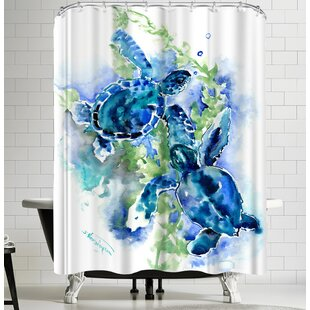 Suren Nersisyan Sea Turtles I Single Shower Curtain