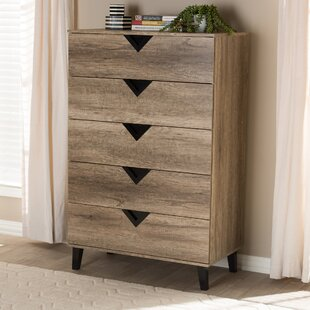 Elio 5 Drawer Dresser by Wrought Studio