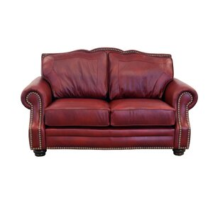 Winchester Leather Loveseat by Westland a..