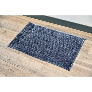 Satiny Microfiber Shaggy Loop Bath Rug