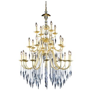 Everly Quinn Rana Traditional 24-Light Chandelier