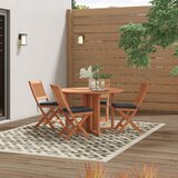 Folse 5 Piece Dining Set with Cushions
