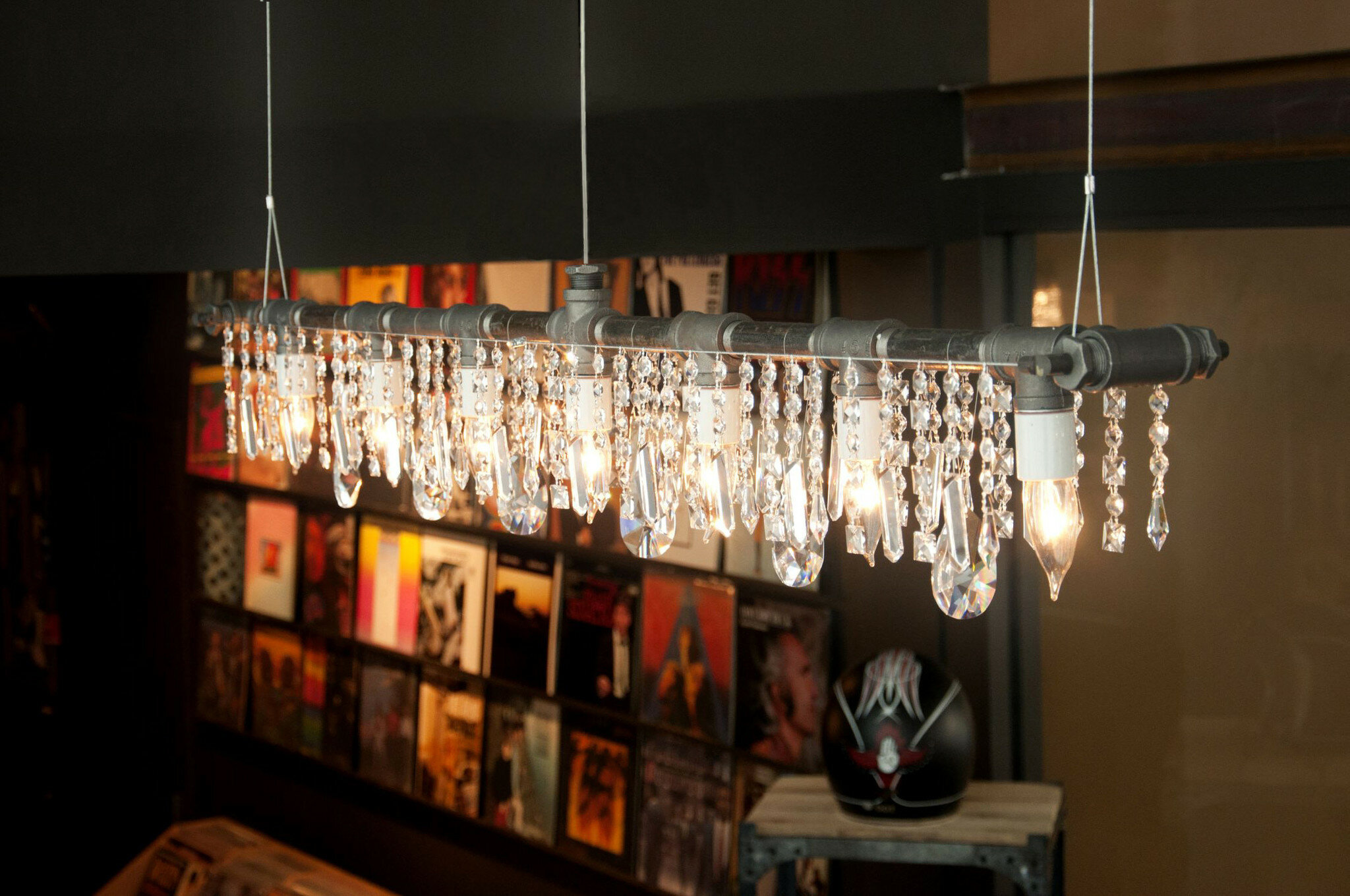 Michael McHale Designs Industrial Linear 5 Light Crystal